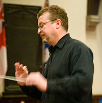 Jurgen in rehearsal with Toronto Classical Singers